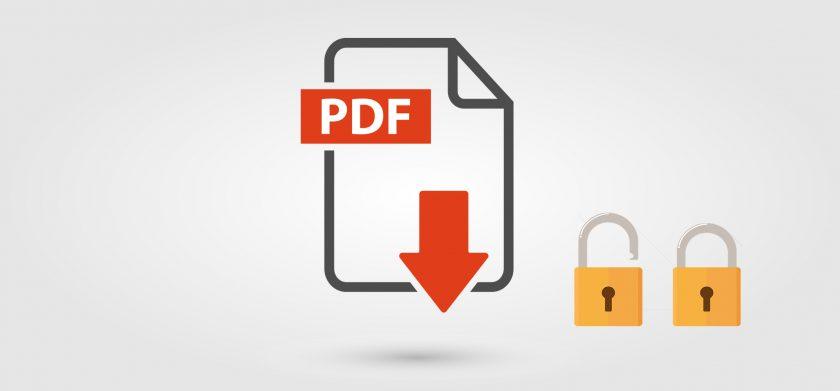 снять защиту с пдф файла онлайн