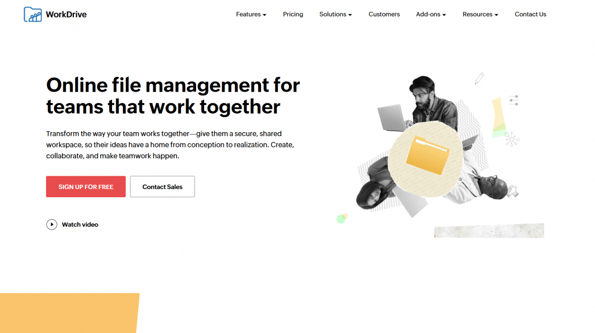 Zoho WorkDrive Online file management for teams — Mozilla Firefox