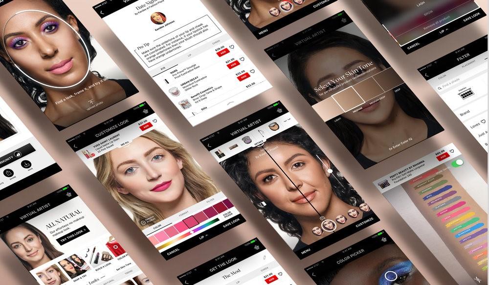 приложение от косметического гиганта Loreal, в основе которого используется технология Modi Face