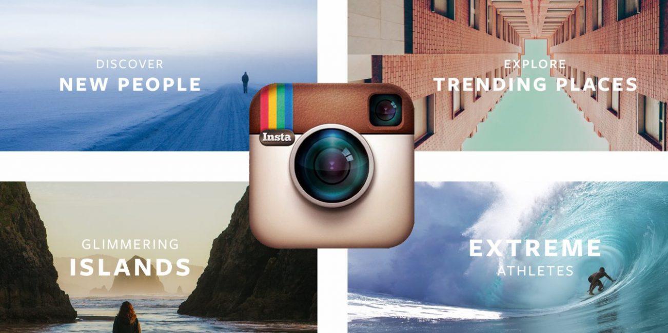 Вкладка трендов Instagram Explore